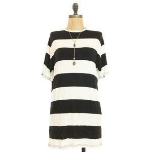 Topshop Nordstrom S/S Knit Block Stripe Tunic